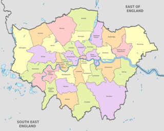Cartina delle zone (boroughs) di Londra